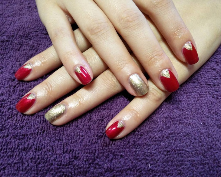 Classy Red and Gold Nail Design - 26+ Red And Gold Nail Art Designs , Ideas Design Trends - Premium