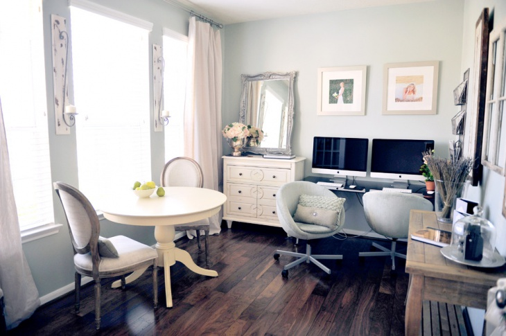 Chic Home Office For Small Space