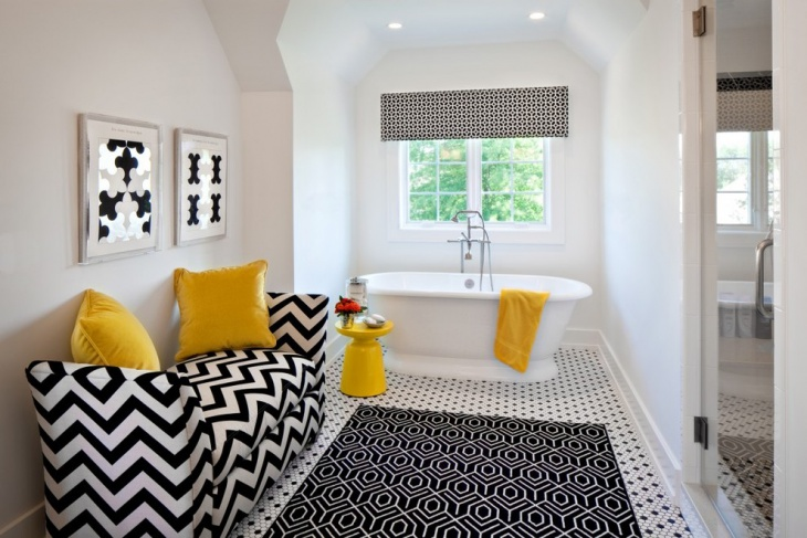 Black and White Bathroom Floor Idea