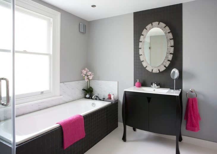 Transition Black and White Bathroom