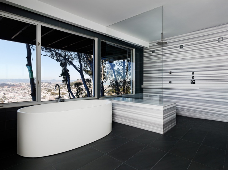 Black and White Tiled Bathrooms