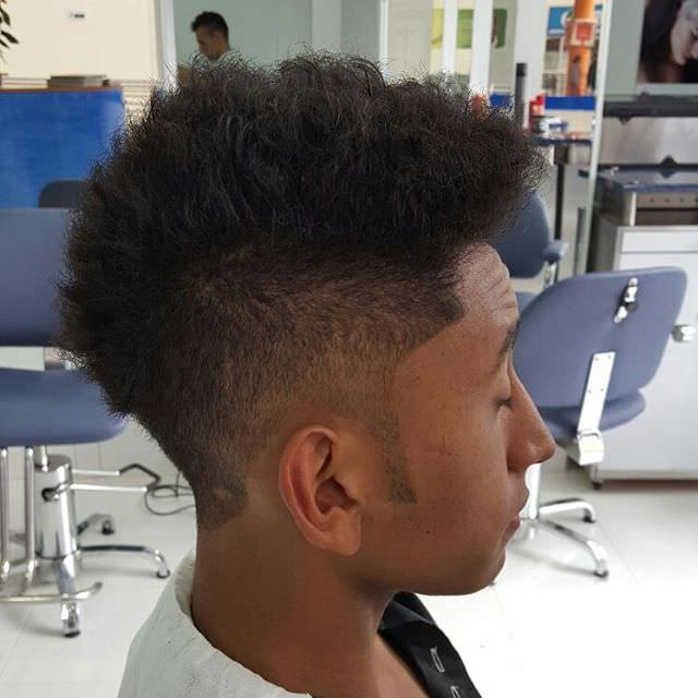Afro Style Fade Haircut