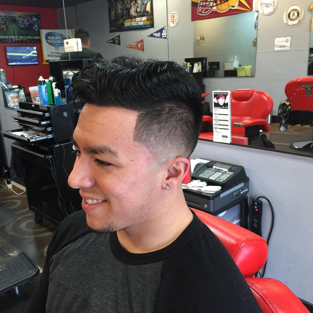 Comb Over Fade Hairstyle