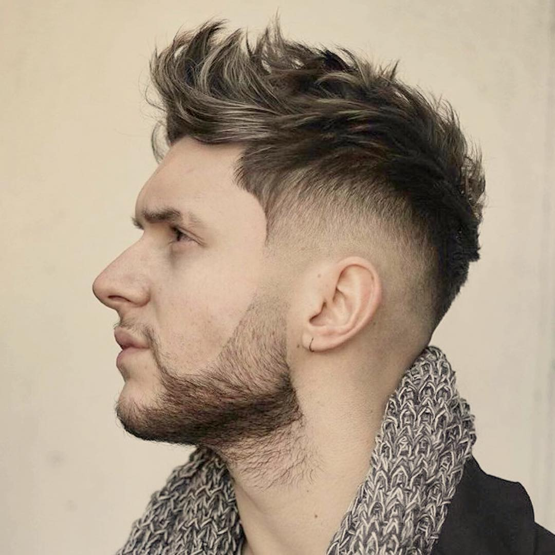 Fade Hair Design for White Men