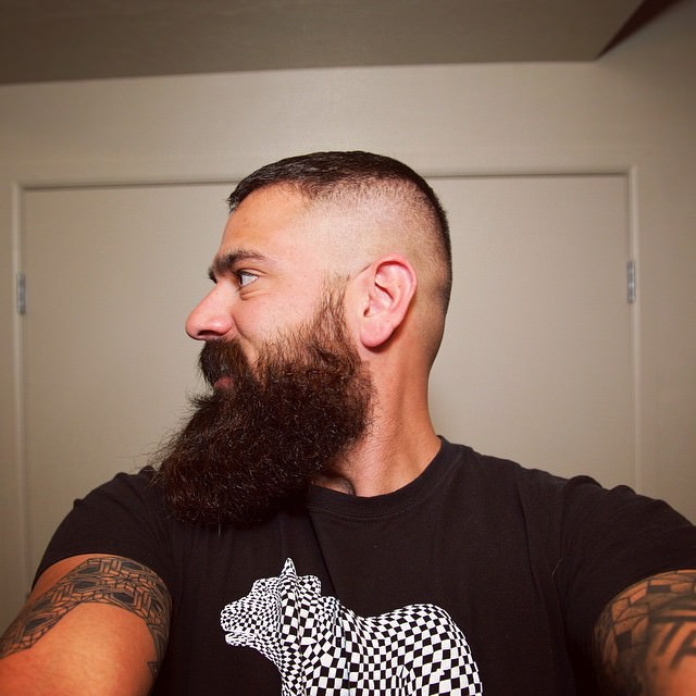 High Fade and Beard Haircut