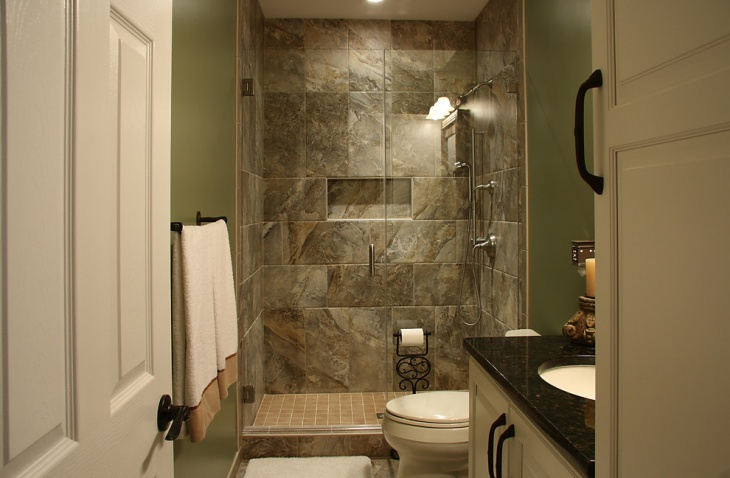 19 basement bathroom designs decorating ideas design for Basement bathroom flooring ideas
