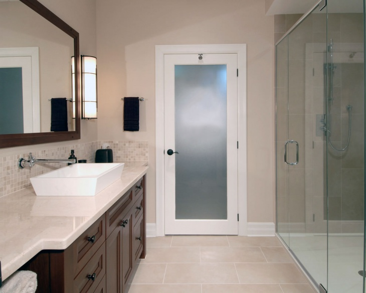 Delightful Neutral Color Basement Bathroom