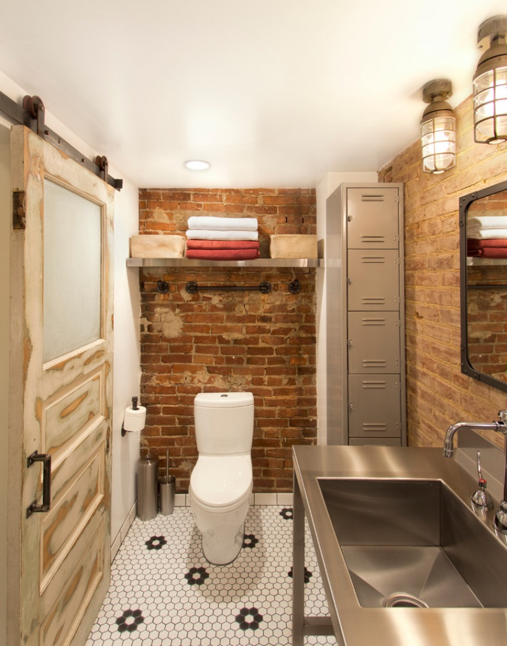 Industrial Basement Bathroom