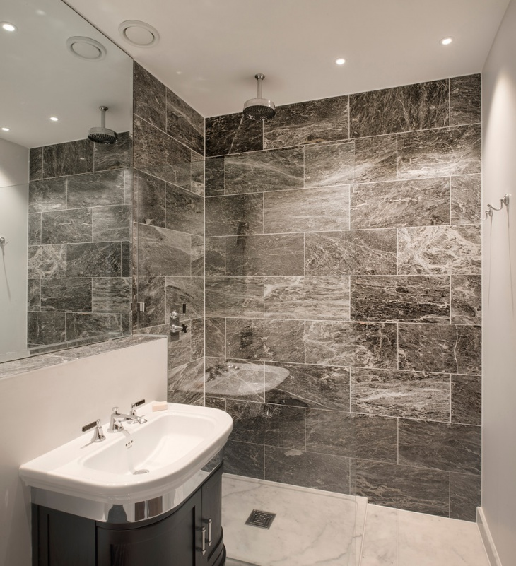 Grey Basement Shower Room
