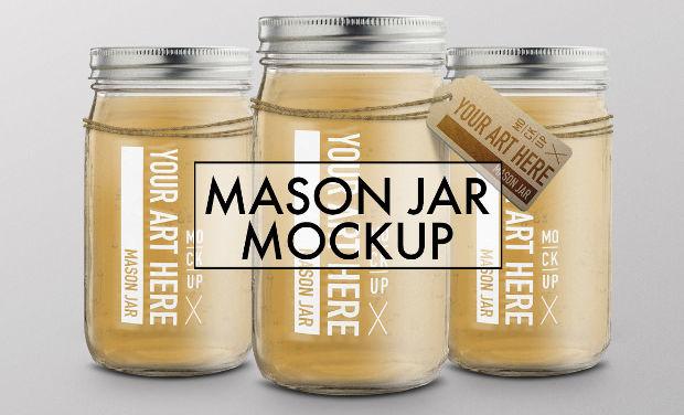 Creative Mason Jar Mockup