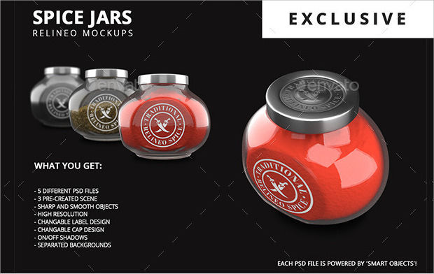 High Resolution Spice Jar Mockups