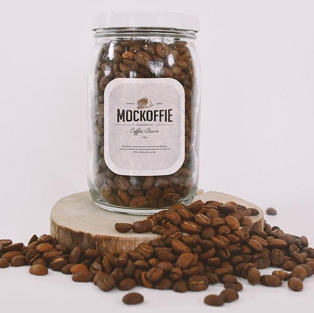 Amazing Jar Mockup with Beans