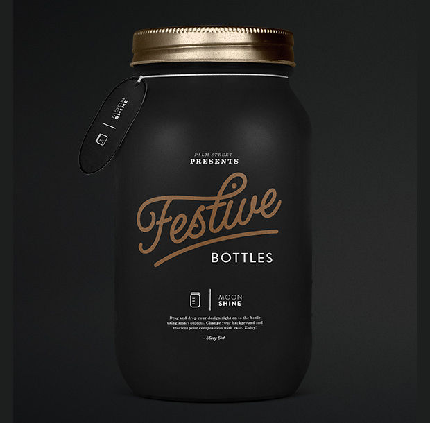 Cool Mason Jar Mockup Design