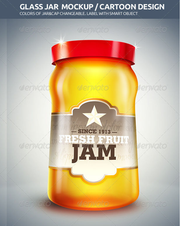 Changing Colors Jar Container Mockup