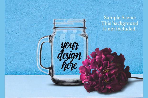 glass jar mockup design1
