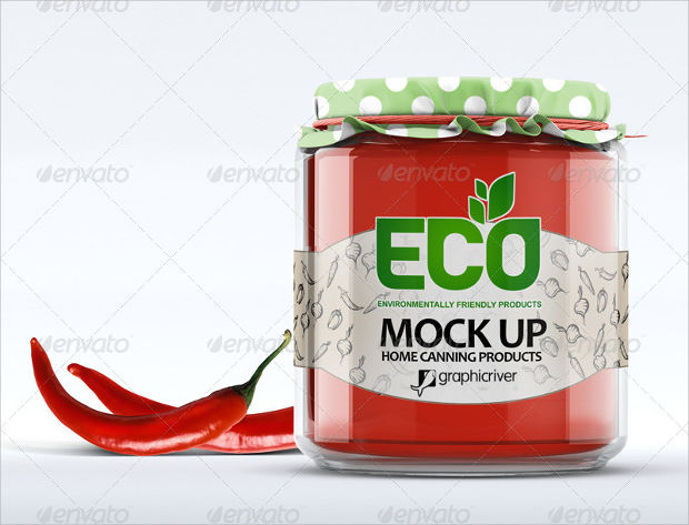 Environment Friendly Glass Jar Mockup