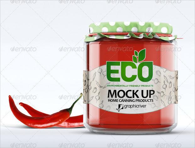 environment friendly glass jar mockup