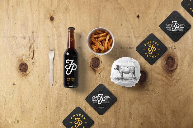 New Burger Bar Stationery Mockup Package