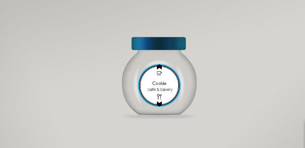 Cookie Glass Jar Mockup