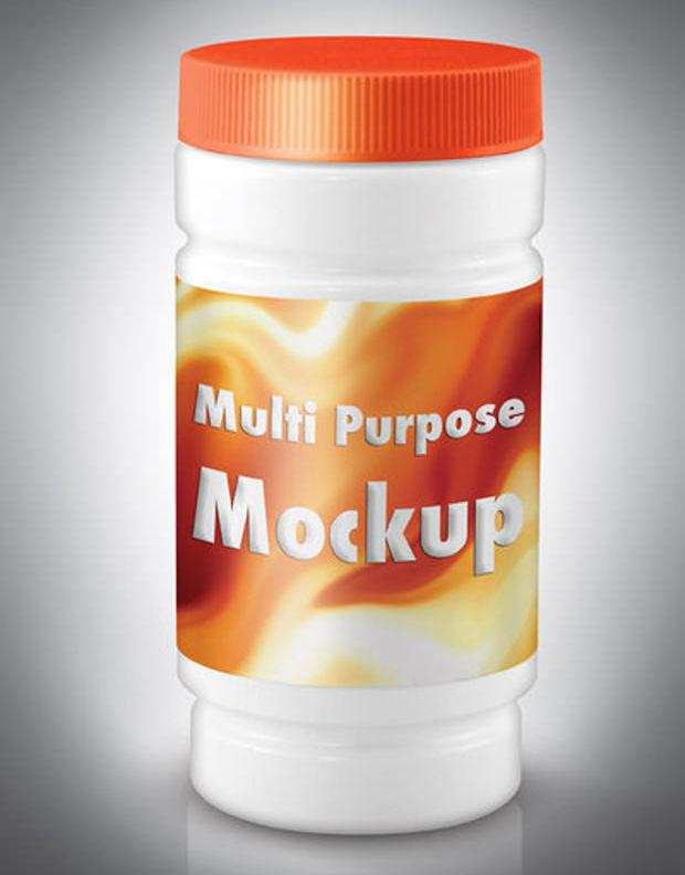 Multipurpose Plastic Jar Mockup