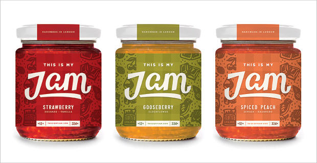 beautiful lettering jam jar mockup