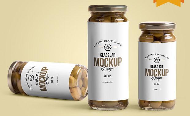 customizable label design free glass jar