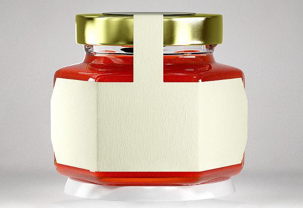 simple honey jar mockup