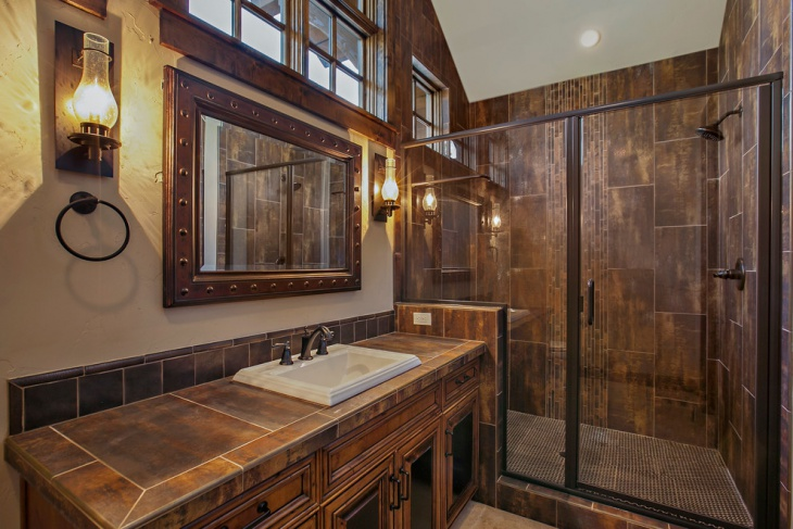 Rustic Bathroom Designs: 20+ Brown Bathroom Designs, Decorating Ideas