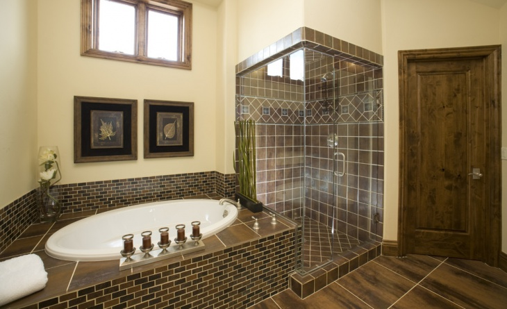 20+ Brown Bathroom Designs, Decorating Ideas | Design ...