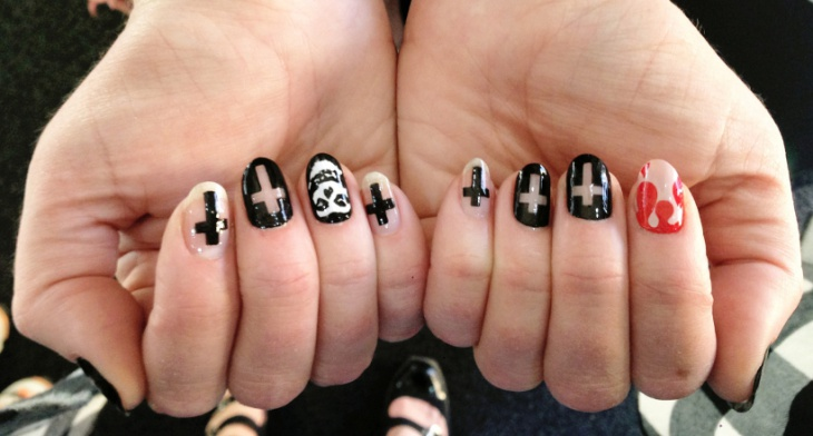 img - 29+ Cross Nail Art Designs, Ideas Design Trends - Premium PSD