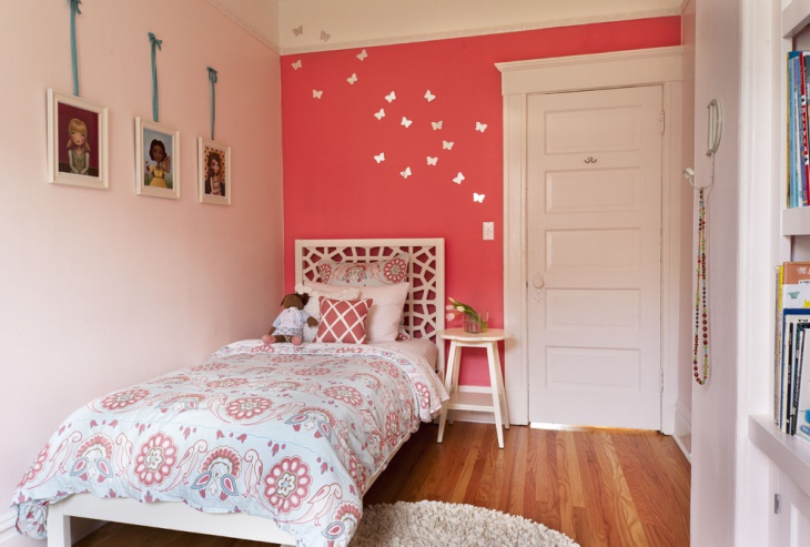 Butterfly Accent Wall Art For Girls Bedroom