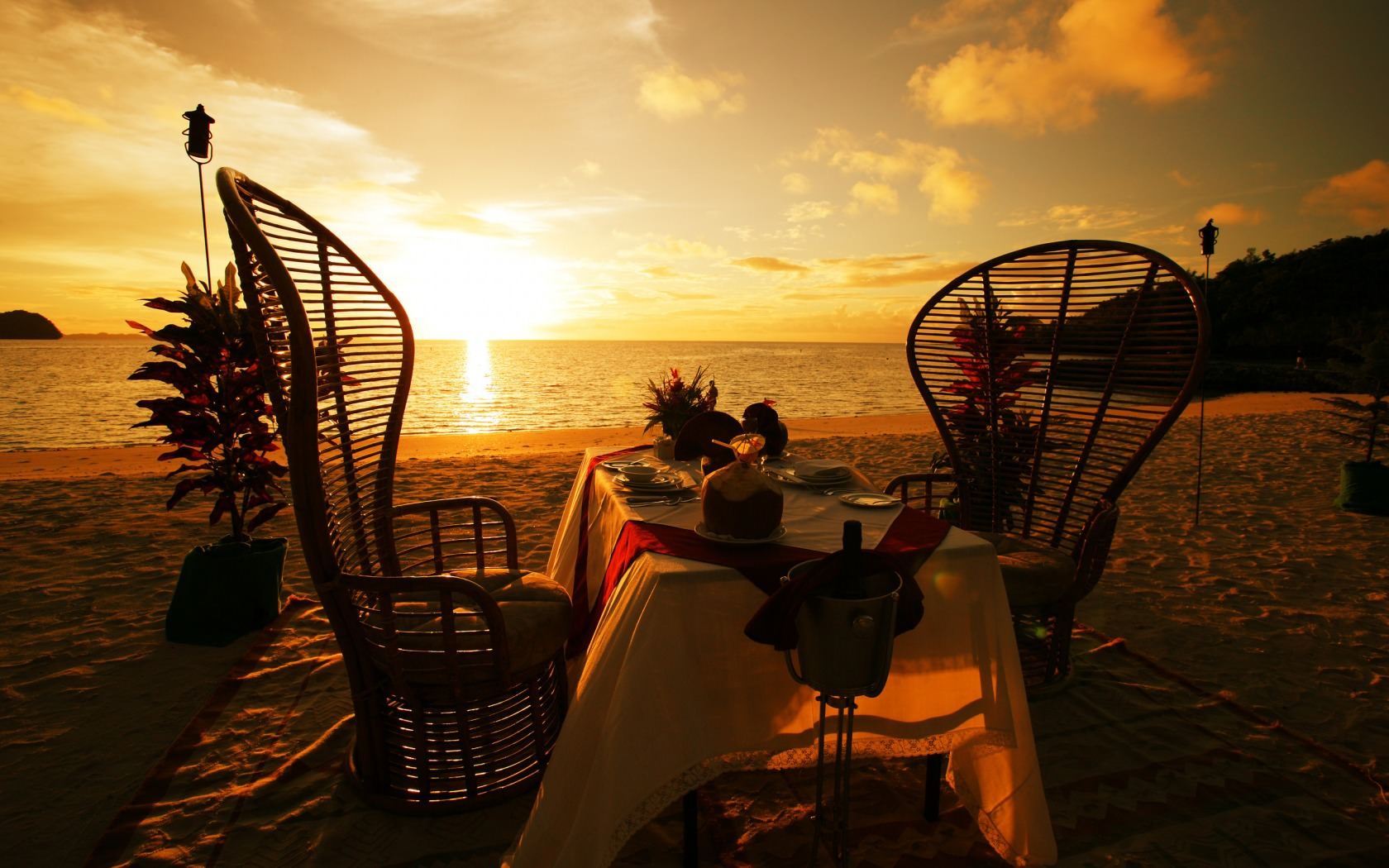 Sunset Dinner Background