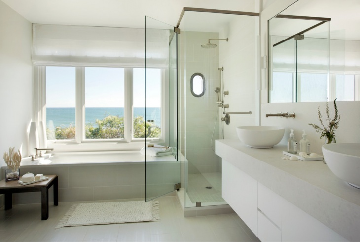 Beach house color schemes interior joy studio design for Coastal bathroom design