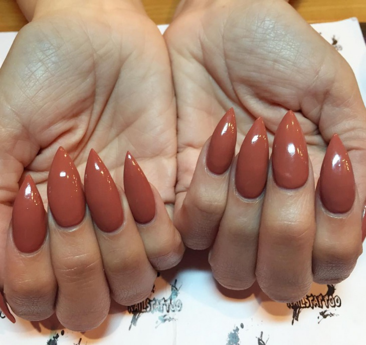 Beautiful Stiletto Nail Design