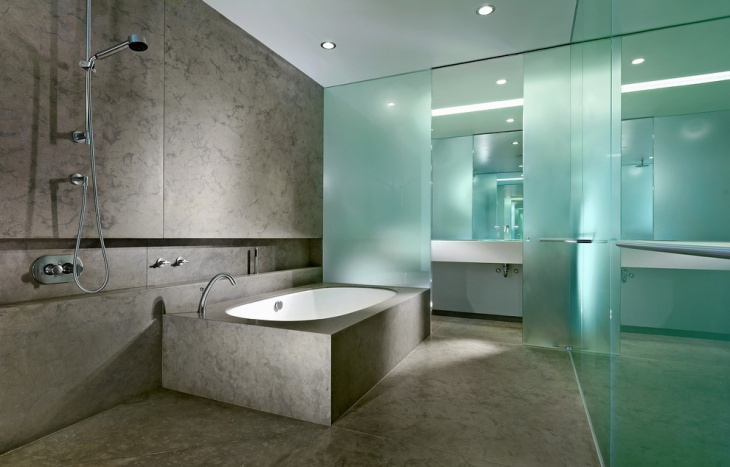 elegant bathroom design for industries