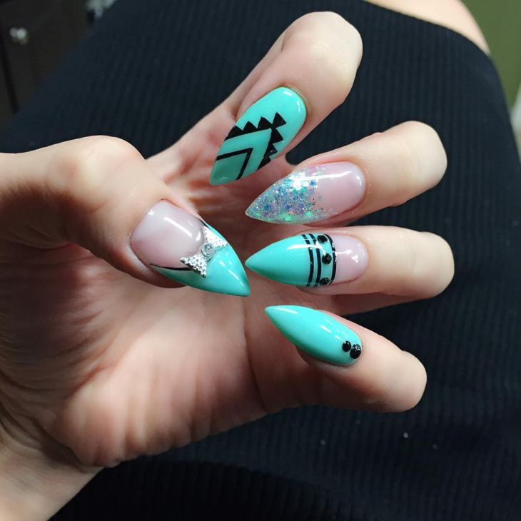 Sharp Pointy Nail Design - 19+ Pointy Nails Art Designs, Ideas Design Trends - Premium PSD