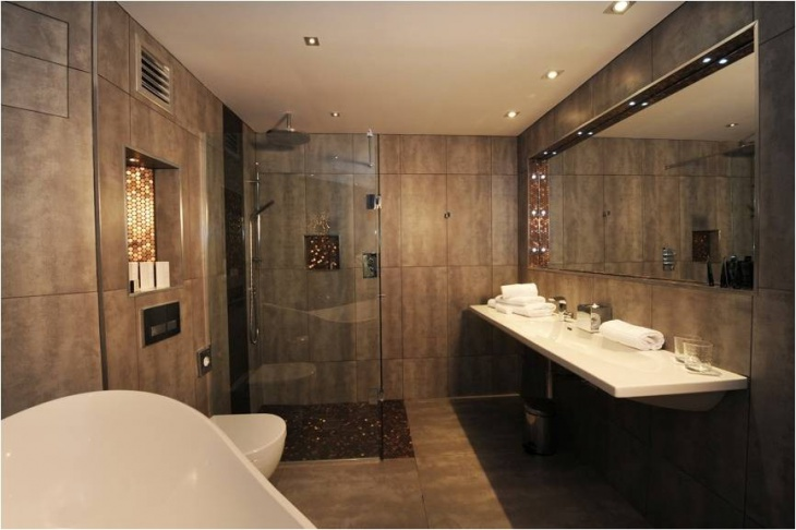 beautiful commercial bathroom decor idea