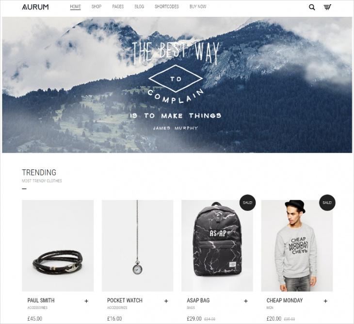 minimalist shopping theme
