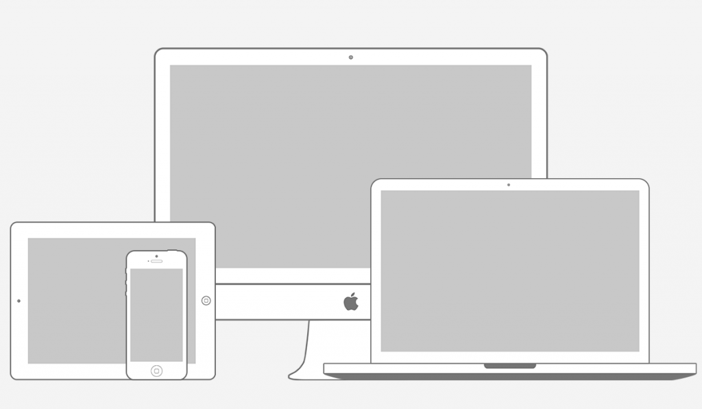 Apple Responsive Screen Mocku