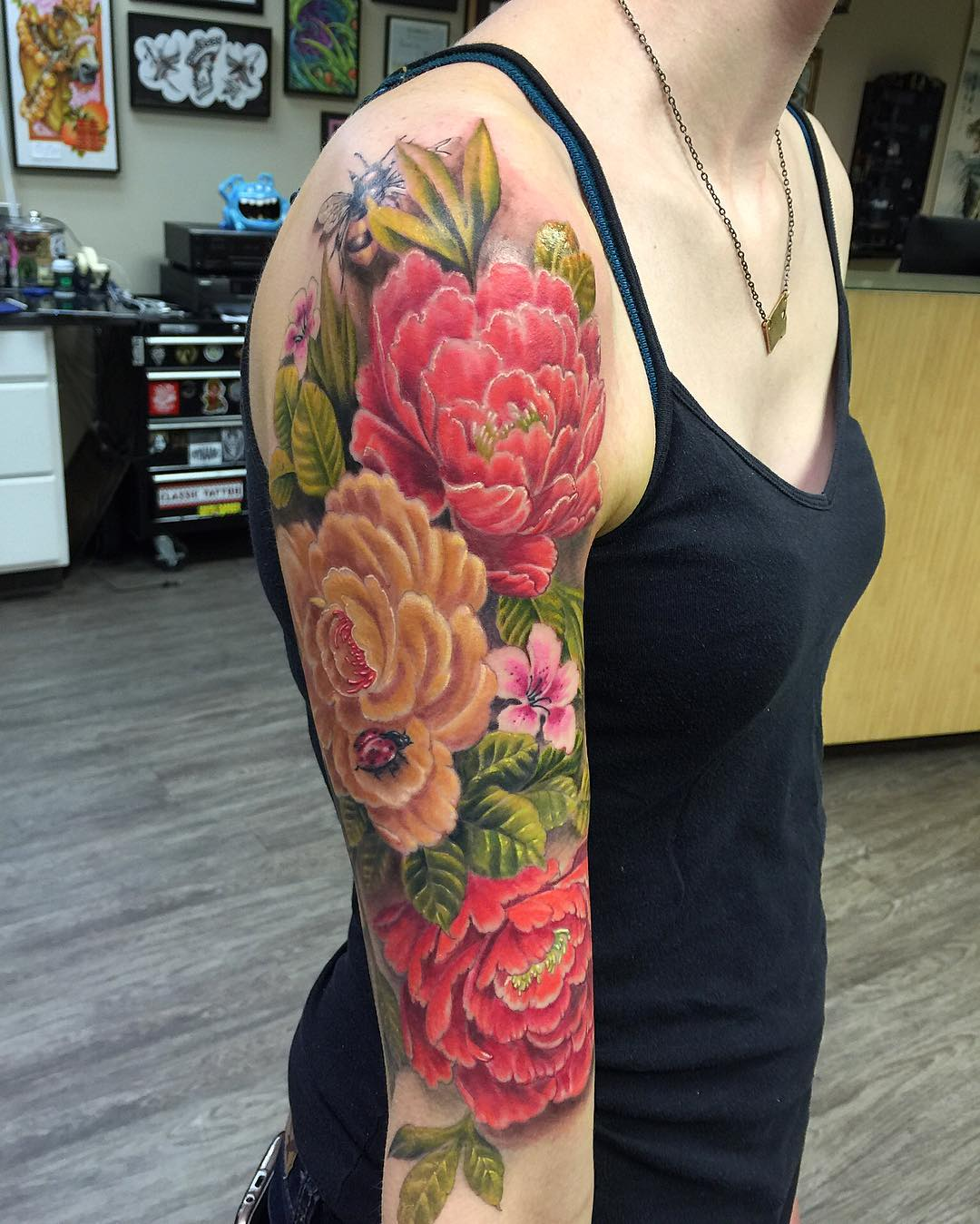23 Flower Sleeve Tattoo Designs Ideas Design Trends Premium