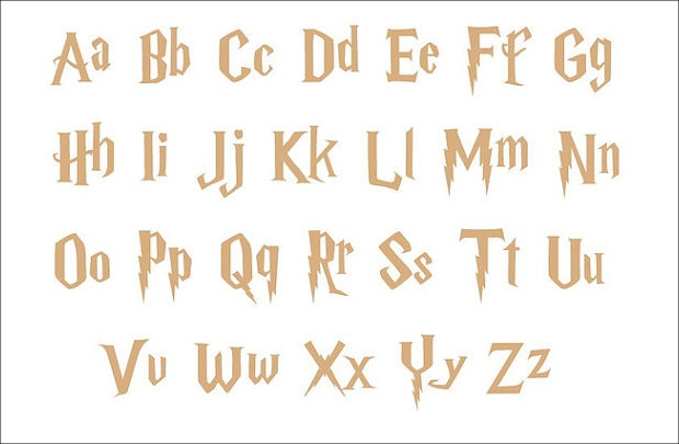 Wooden Letters Harry Potter Font