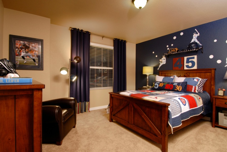Classic Bedroom Wall Design For Boys