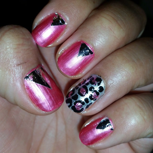 amazing pink and white nail design