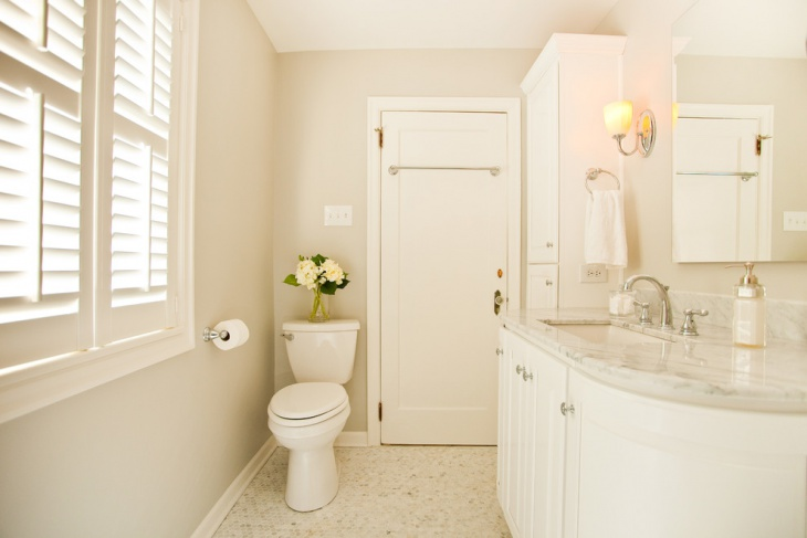 white color master bathroom