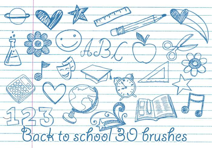 Back to School Doodle Brushes