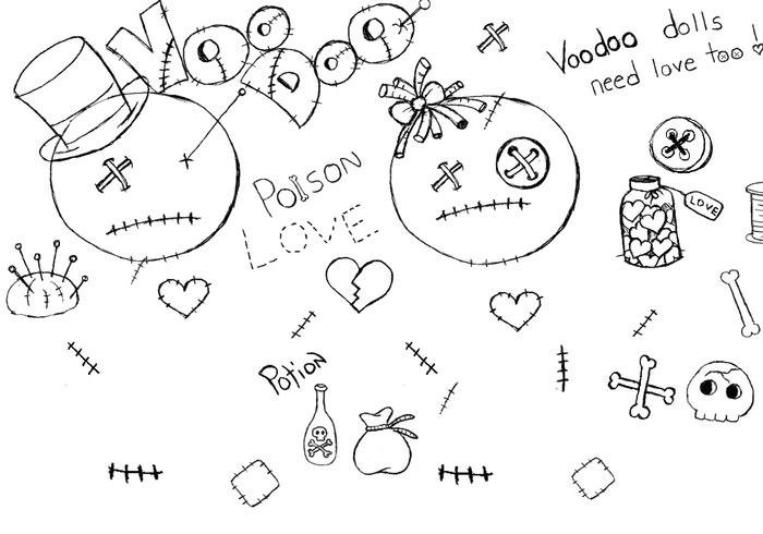 Doodled VooDoll Brushes
