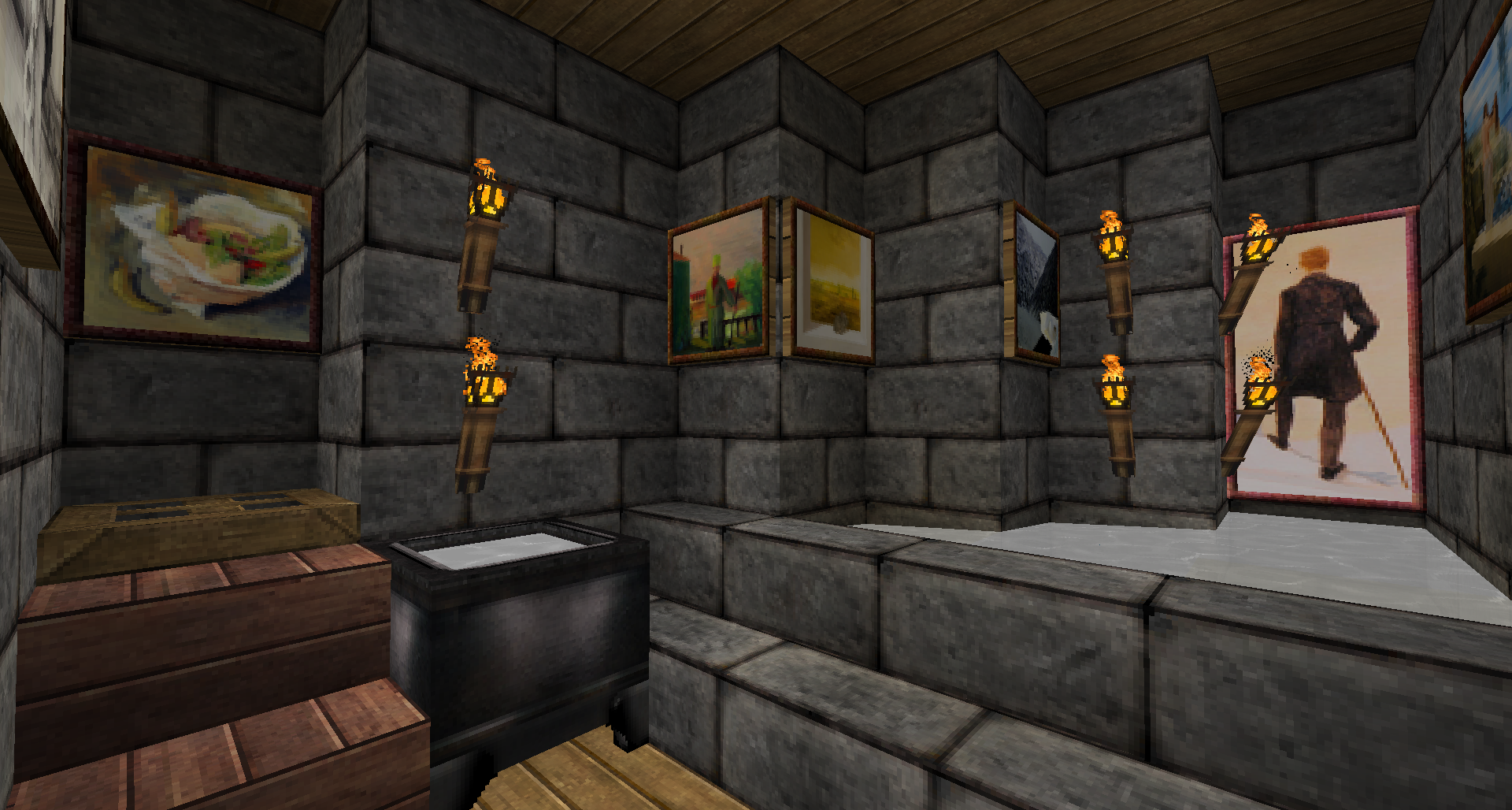 Medieval Minecraft Bathroom Sink