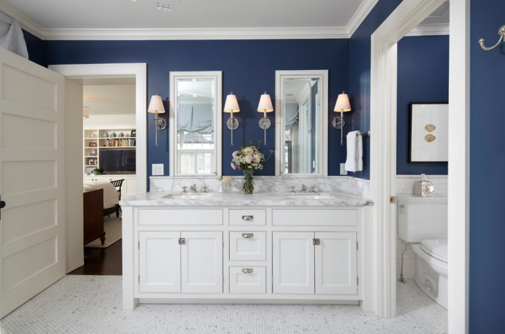 Master Bathroom Ideas Blue : Bathroom paint designs decorating ideas design