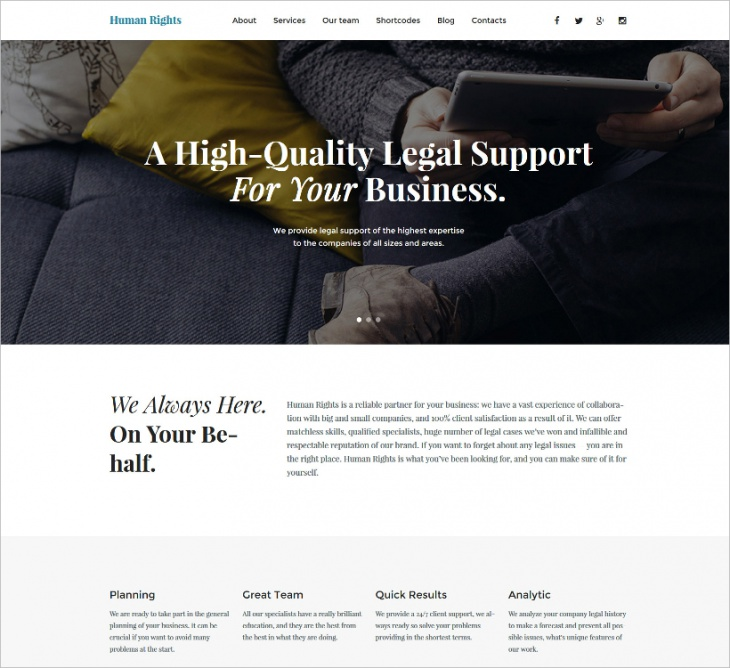 Bootstrap One Page WP Theme