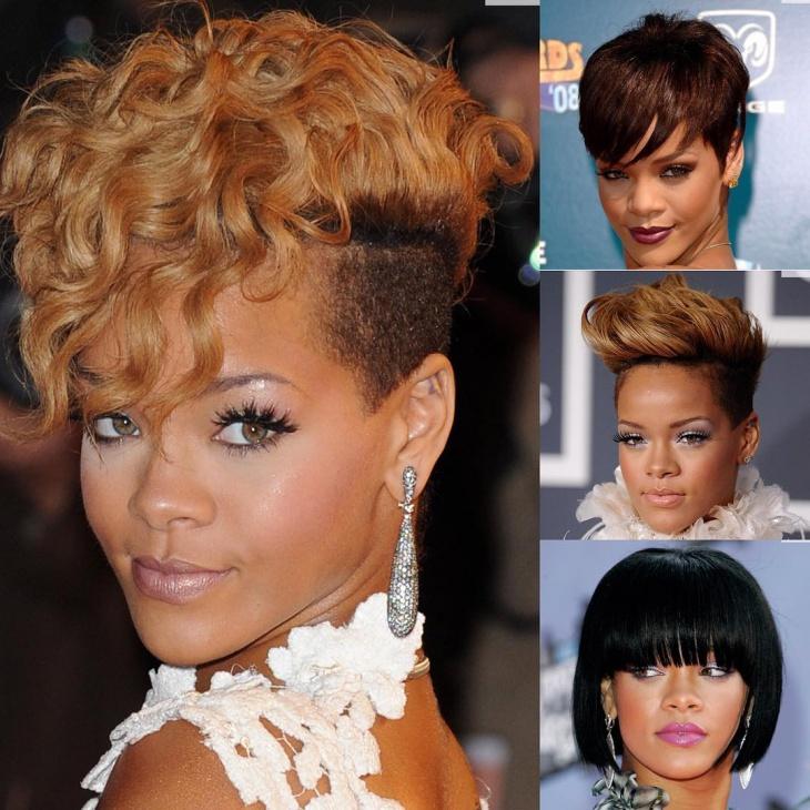 Rihanna Afro Fade Haircut